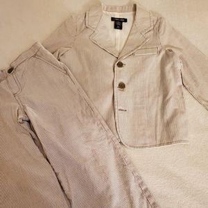 Boys Cherokee Dress Suit 4T Seersucker-like Stripe